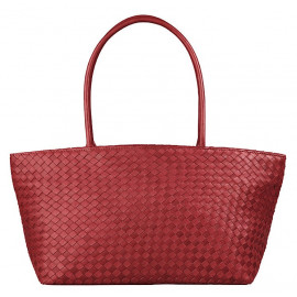 Asia Bag small Nappa Woven red
