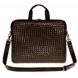 Nico Laptop Bag Nappa Woven brown