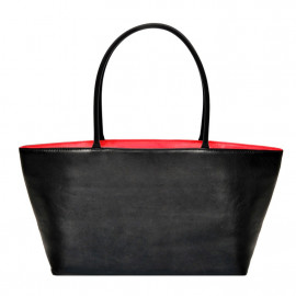 Asia Bag Nappa black with red