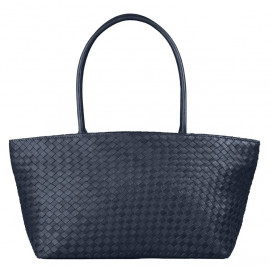 Asia Bag small Nappa Woven navy-blue