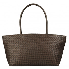 Asia Bag small Nappa Woven brown