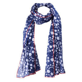Dot Pareo navy-blue - white, with contrast border